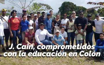 J. Cain, comprometidos con la educación en Colón